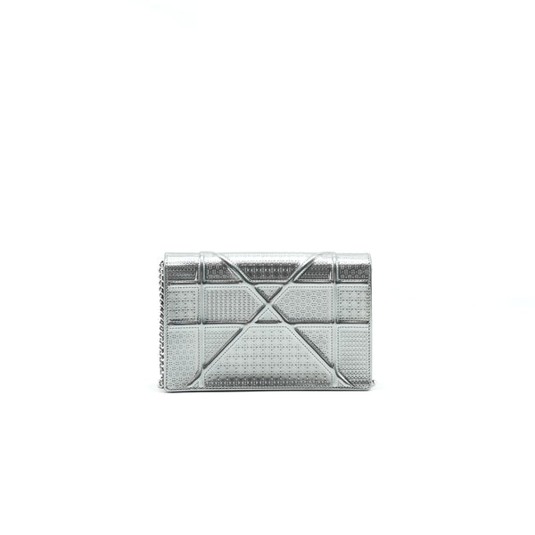 DIOR DIORAMA WALLET ON CHAIN SILVER