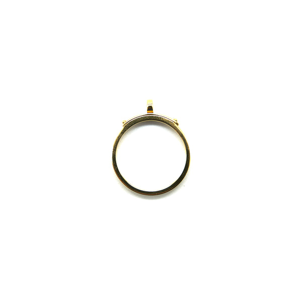 Hermes Kelly 18K Yellow Gold Narrow Ring size51