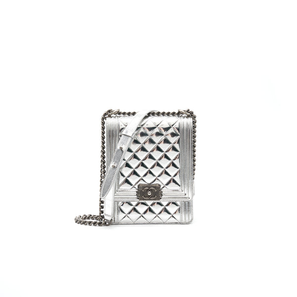 Chanel Boy Chanel Leboy Silver with Ruthenium Hardware