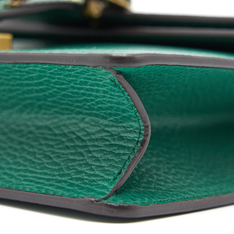 Dionysus GG Small Leather Bag Green