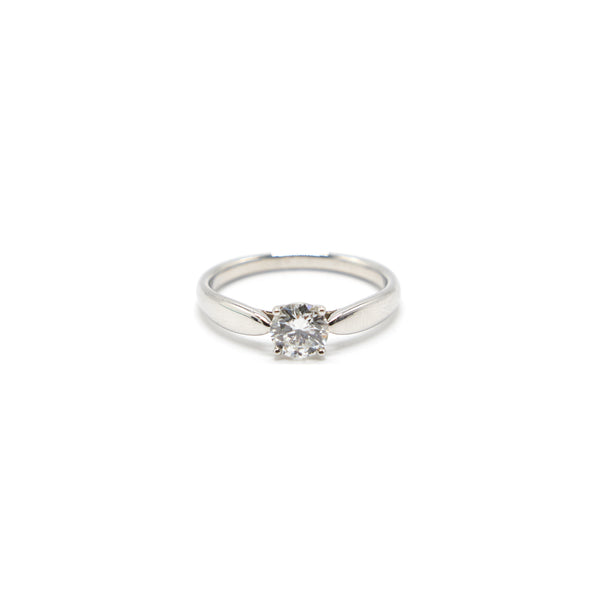 Tiffany Platinum and Diamond Harmony Solitaire Ring 0.66 carat