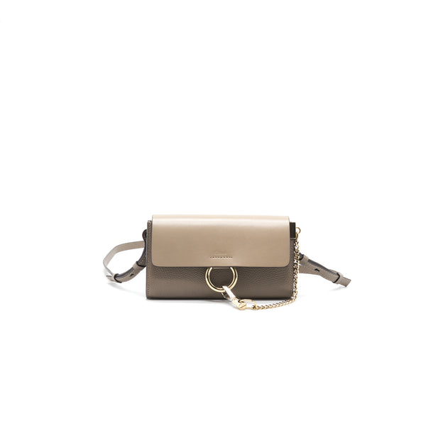 Chloe Faye Mini Leather and Suede Crossbody Bag