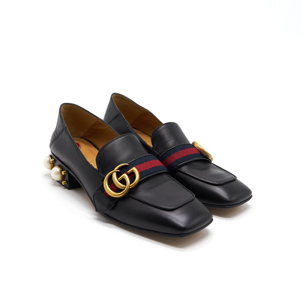Gucci Leather Mini Heel Loafer Size 35.5