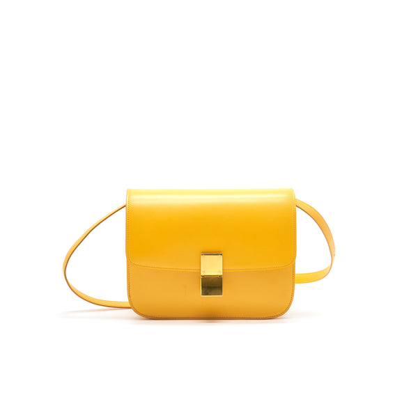 CELINE MEDIUM CLASSIC IN BOX CALFSKIN MANGO YELLOW