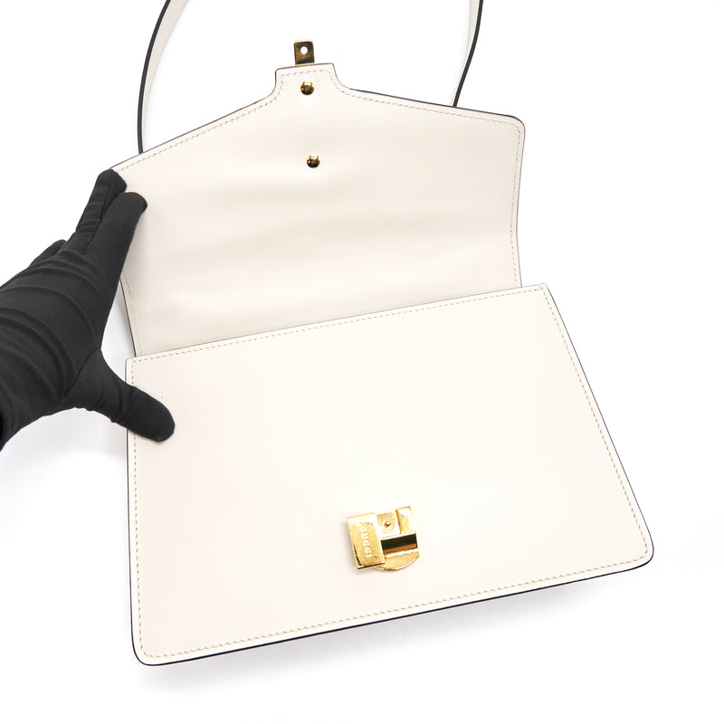 GUCCI SYLVIE SMALL SHOULDER BAG WHITE