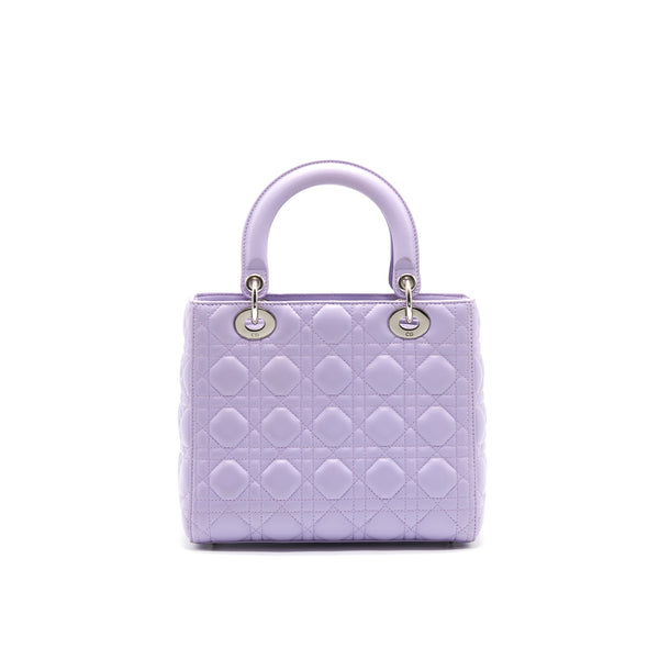 CHRISTIAN DIOR LADY DIOR MEDIUM BAG LAVENDER PURPLE