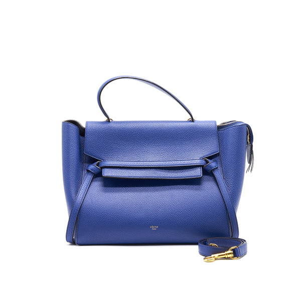 CELINE MINI BELT BAG IN BLUE