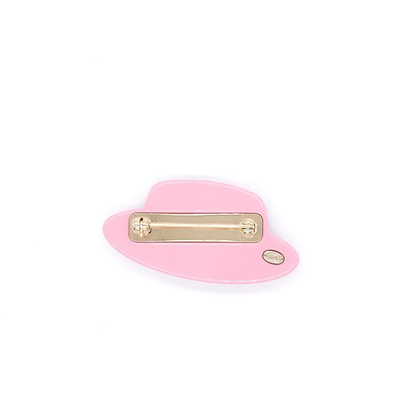 Chanel Resin Icon Manga Hat Brooch Pink White Gold - EMIER