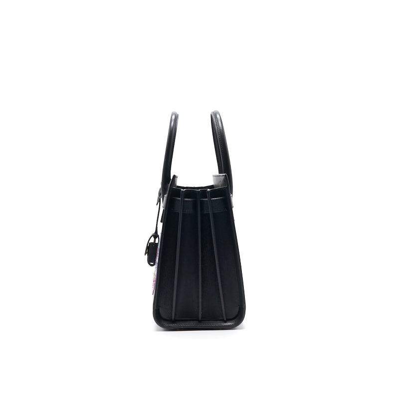 Saint Laurent Paris Black Leather Limited Baby Sac De Jour Tote - EMIER
