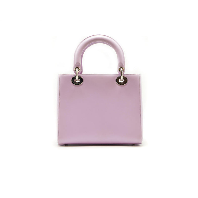 Dior Lady Le Patch Pocket Lavender Leather Medium Tote - EMIER