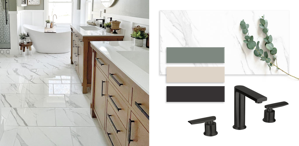 Marble tile and neutral colors