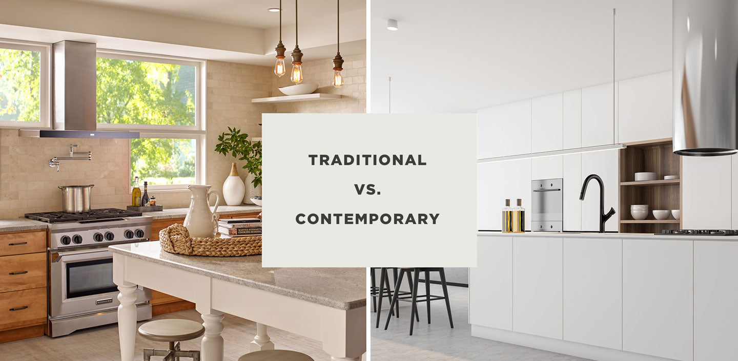 Traditional vs Contemporary Style Kitchen