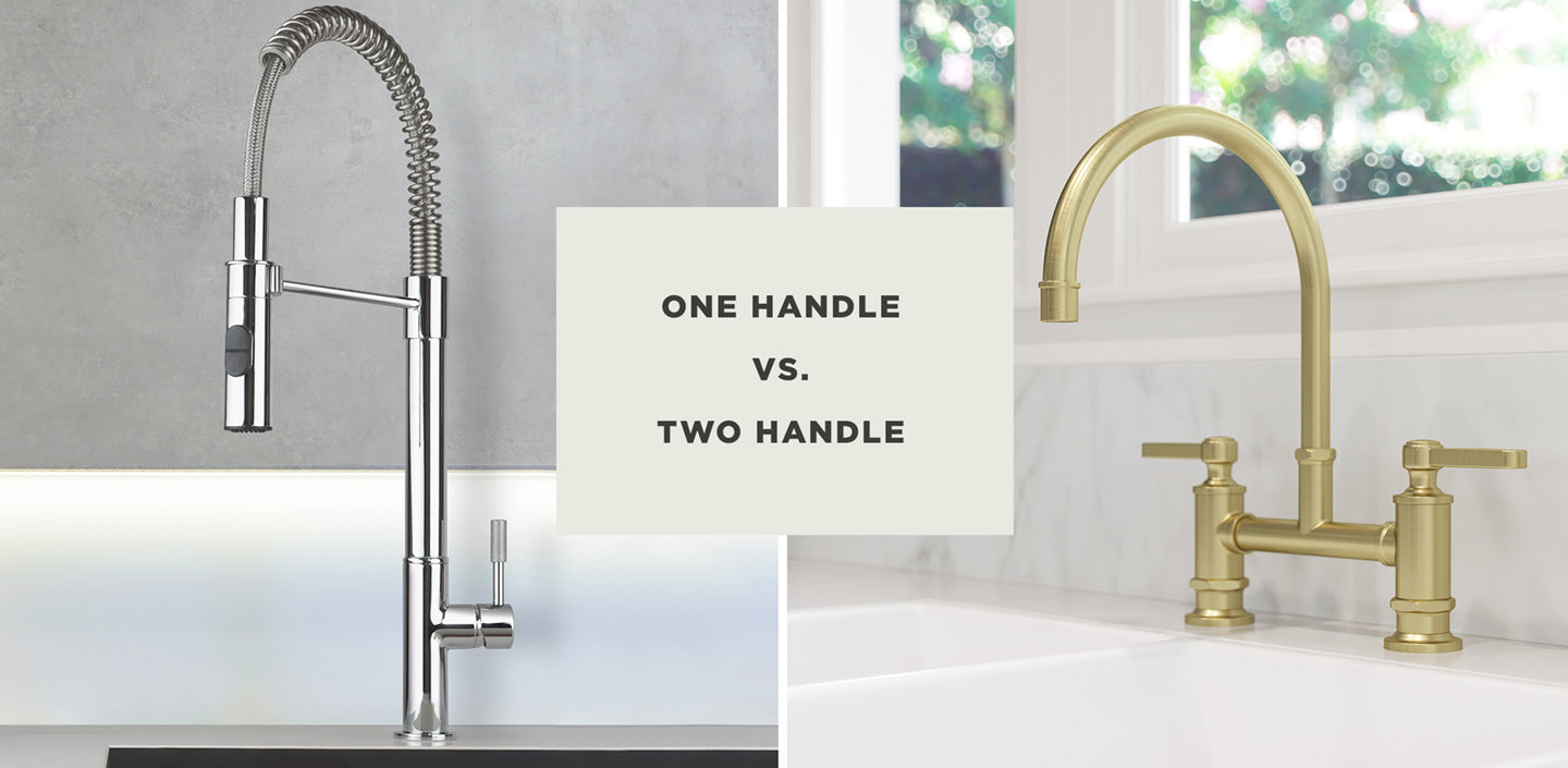 one handle vs two handle kitchen faucet