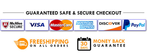 Garanteed Safe & Secure Checkout
