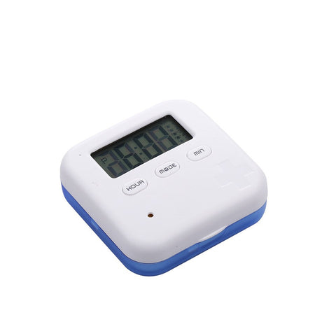 Dust-proof Separated Pill Organizer Pill Box Case Electronic Timer Alarm Clock Reminder Medicine Storage Dispenser Splitters 4