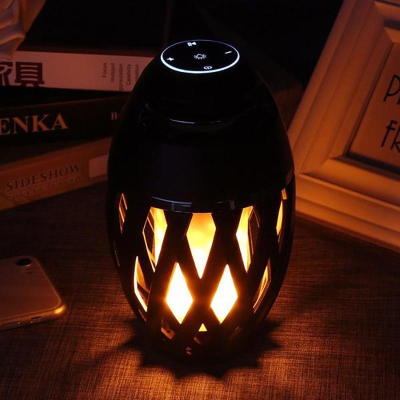 Portable lamp loudspeaker with bluetooth, wireless and speaker