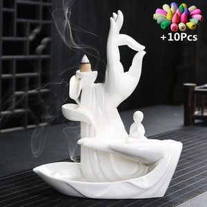 Backflow Incense Burner Lotus