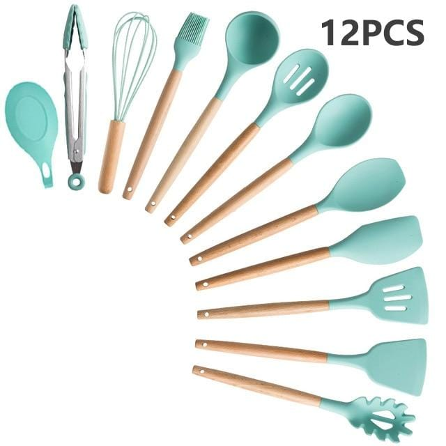 12/13 Silicone Cooking Utensils