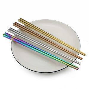 1Pair Reusable Rainbow Chopsticks