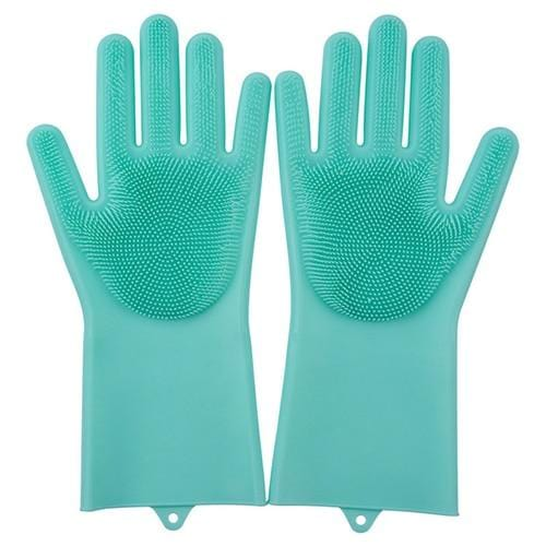 2PCS Multifunction Silicone Cleaning Gloves