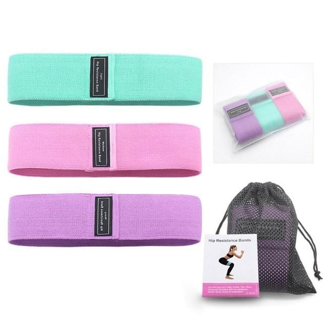 3-Piece Set Fitness Rubber Band