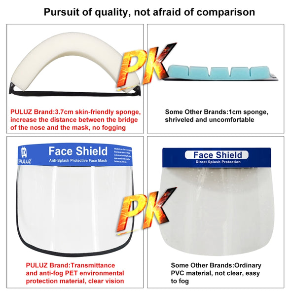 Full Face Clear Vision Protection Shield - Roll-up Style