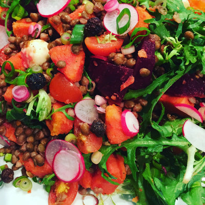 Veggie Lentil Salad with NATIF Bush Tomatoes