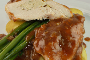 Chicken Breast in Port Wine Sauce & Stilton Mousse