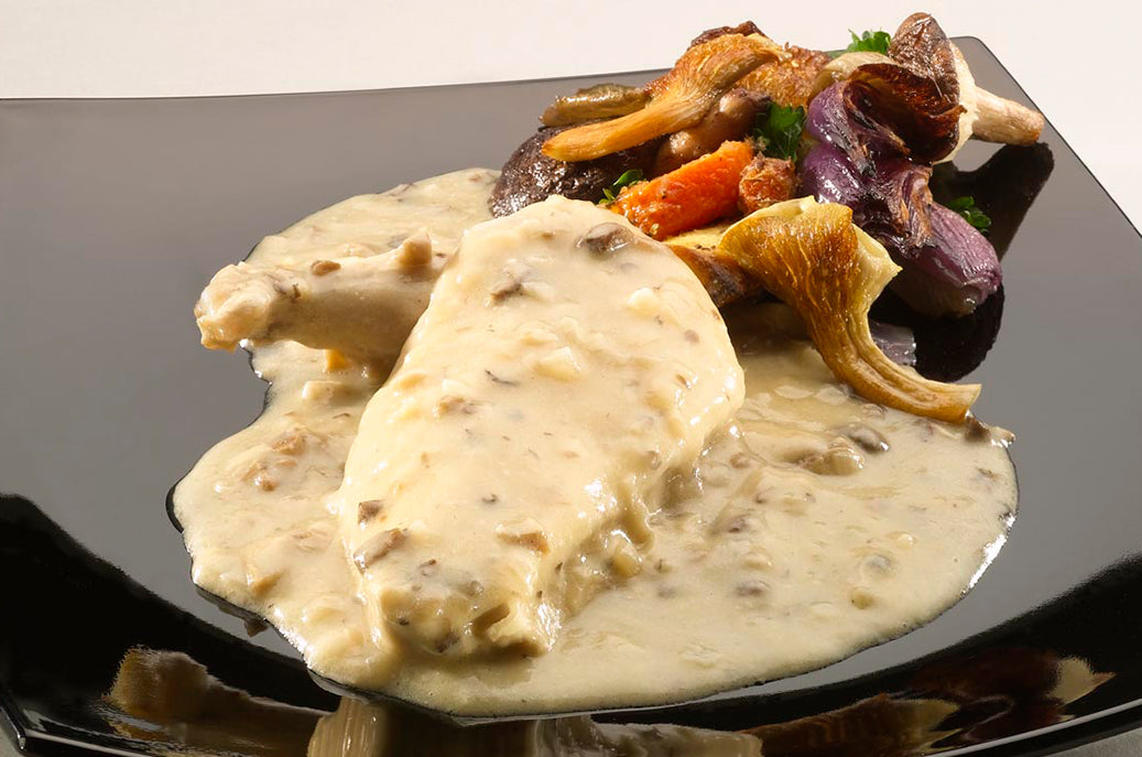 Chicken in a Tarragon Cream Sauce with a Mushroom Duxelle