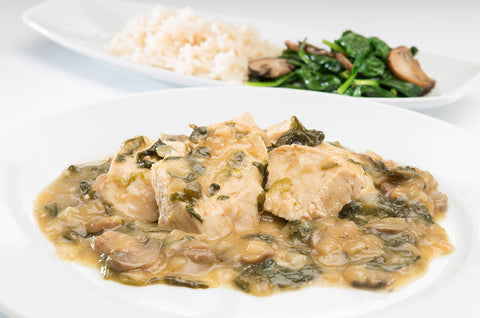 Chicken in Marsala Wine with Spinach