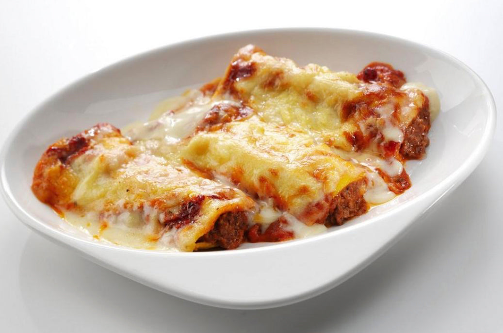 Cannelloni Bolognese in Red Pesto Sun-dried Tomato Sauce
