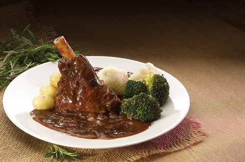 Lamb Hind Shank in Red Wine & Rosemary