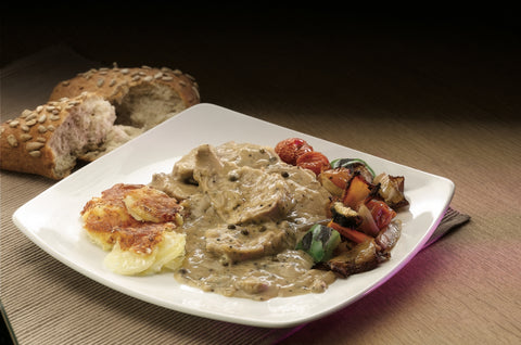 Pork Tenderloin in Green Peppercorn Sauce