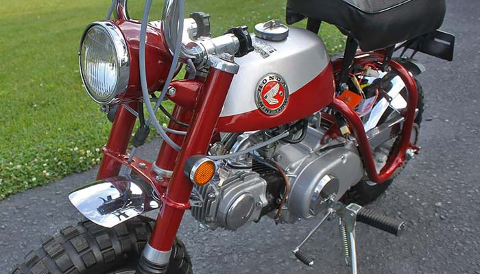 1969 Honda Z50A featuring Candy Ruby Red paint