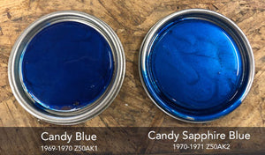 Honda Candy Sapphire Blue Motorcycle Paint