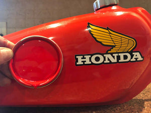 Honda Tahitian Red color matched motorcycle paint