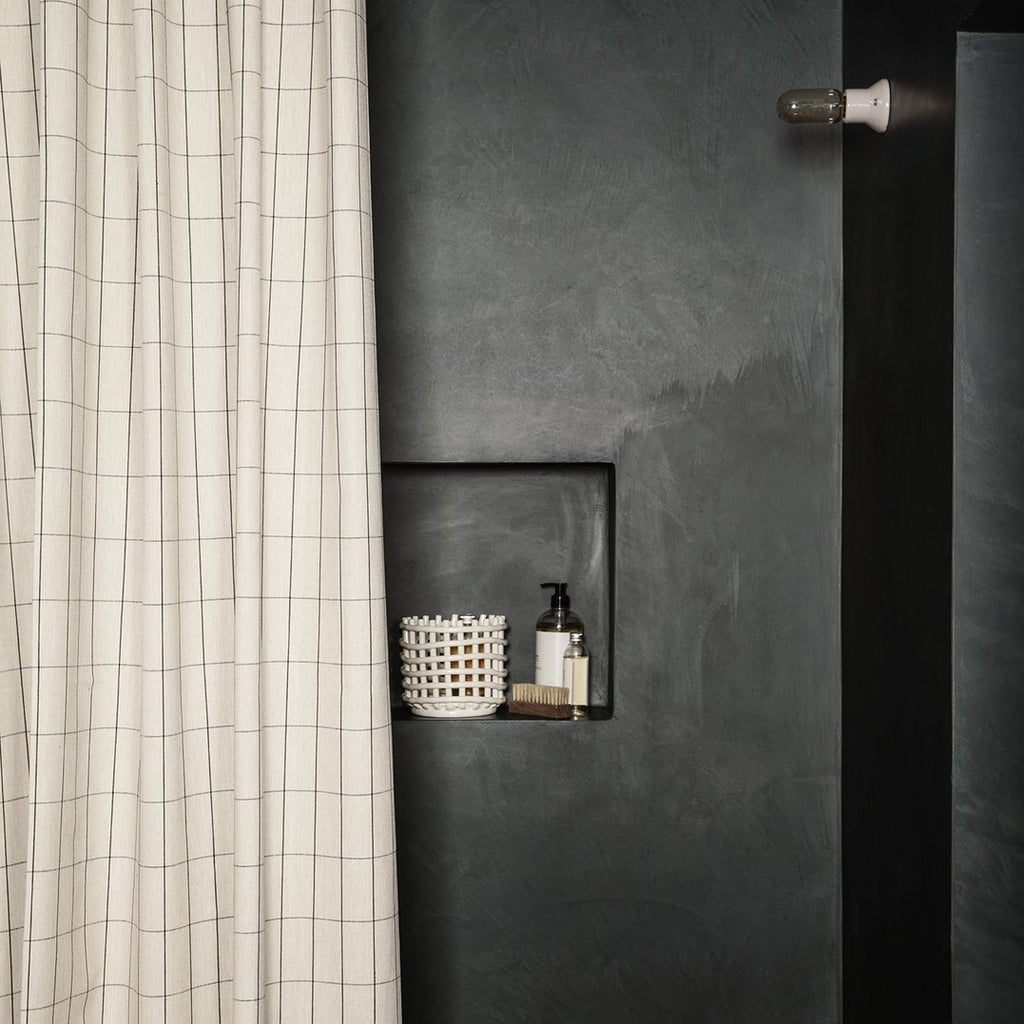 Chambray Shower Curtain - Grid by Ferm Living
