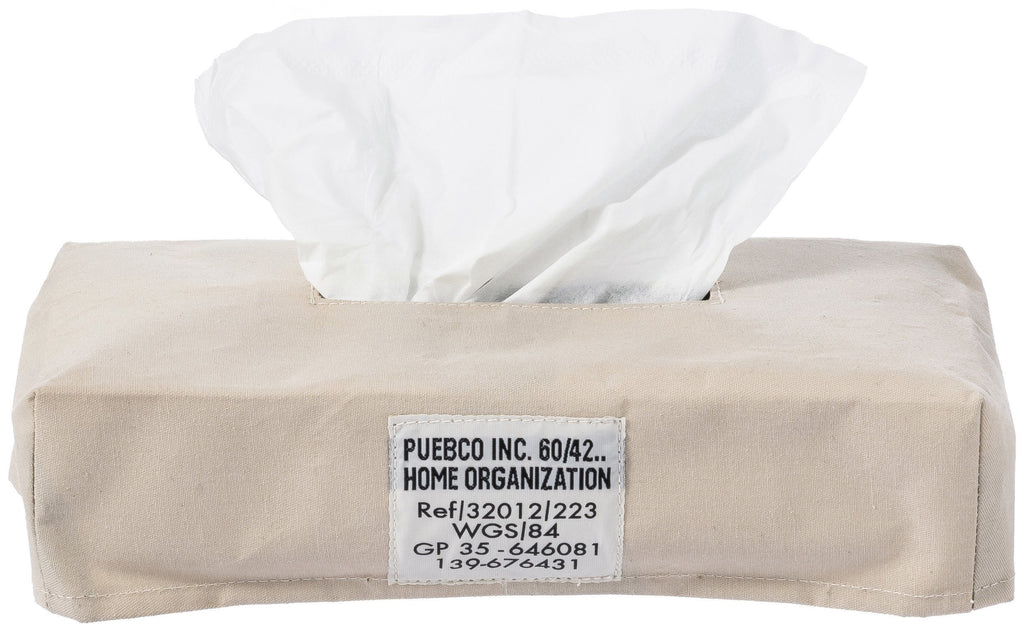 Laminated Fabric Tissue Box Cover - Sand
