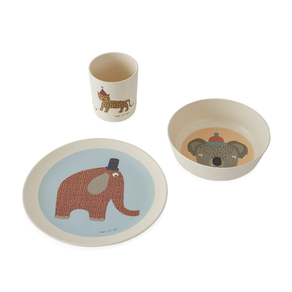 Hathi Bamboo Tableware Set