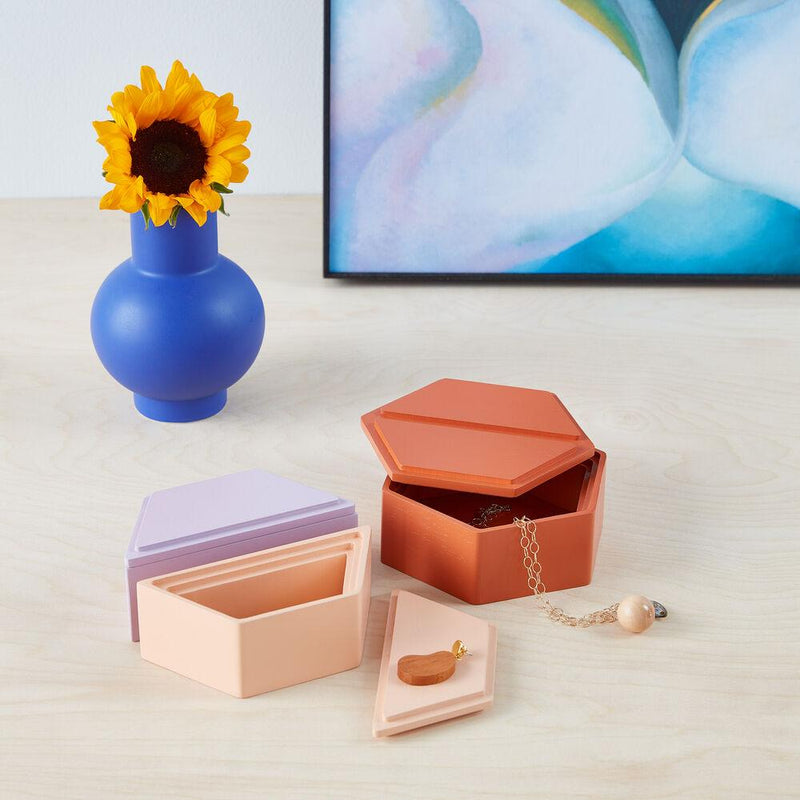 Honeycomb Stacking Jewelry Boxes by MoMA