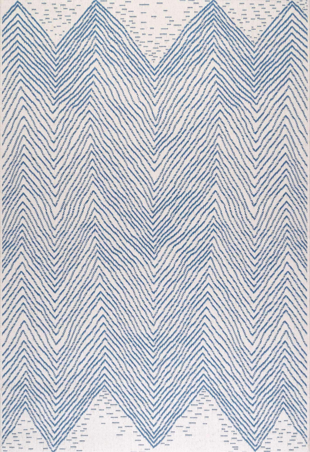 Wavy Chevron Outdoor Rug
