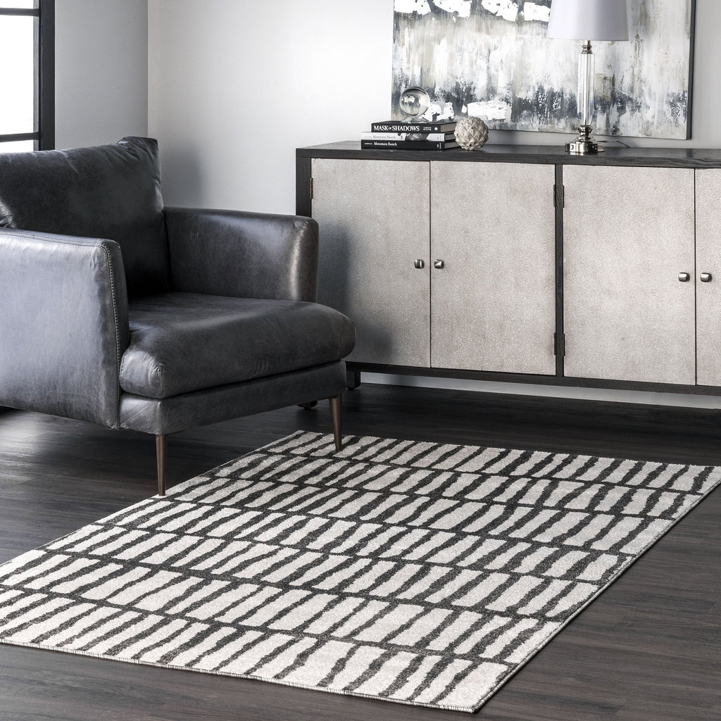 Quinn Jaggy Striped Rug