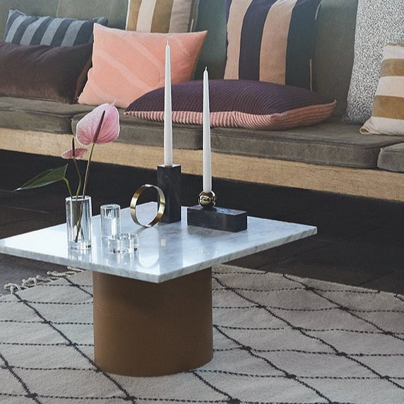 Low Tangent Candleholder in Black