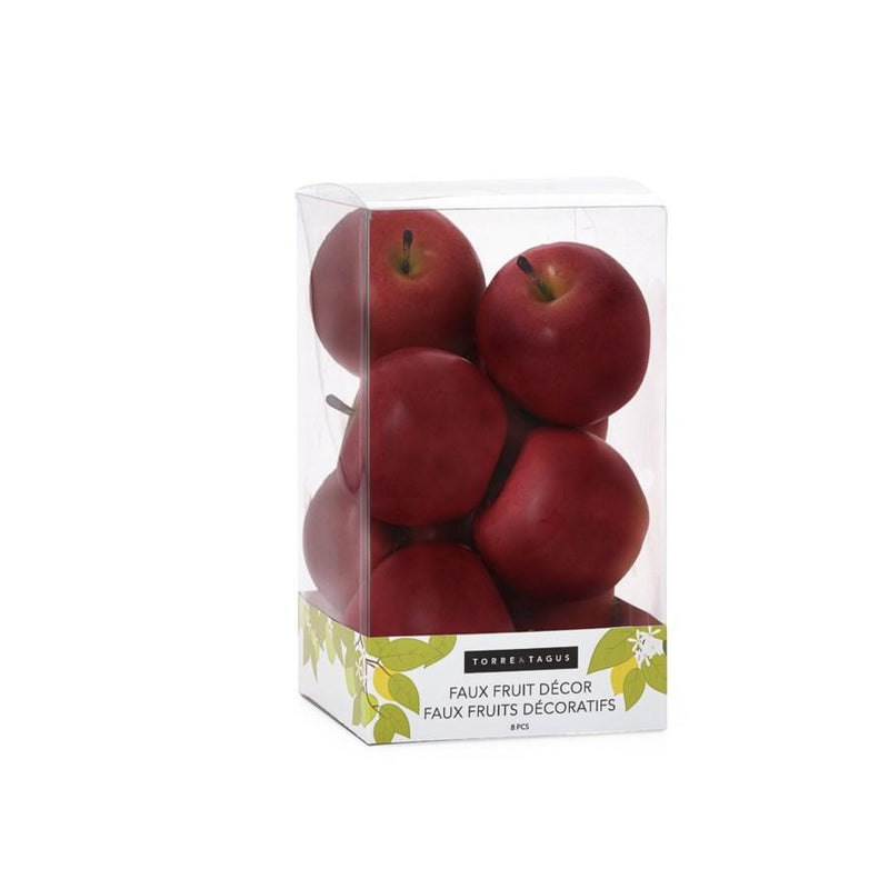 Orchard 8 Piece Faux Fruit Decor Set - Red Apples