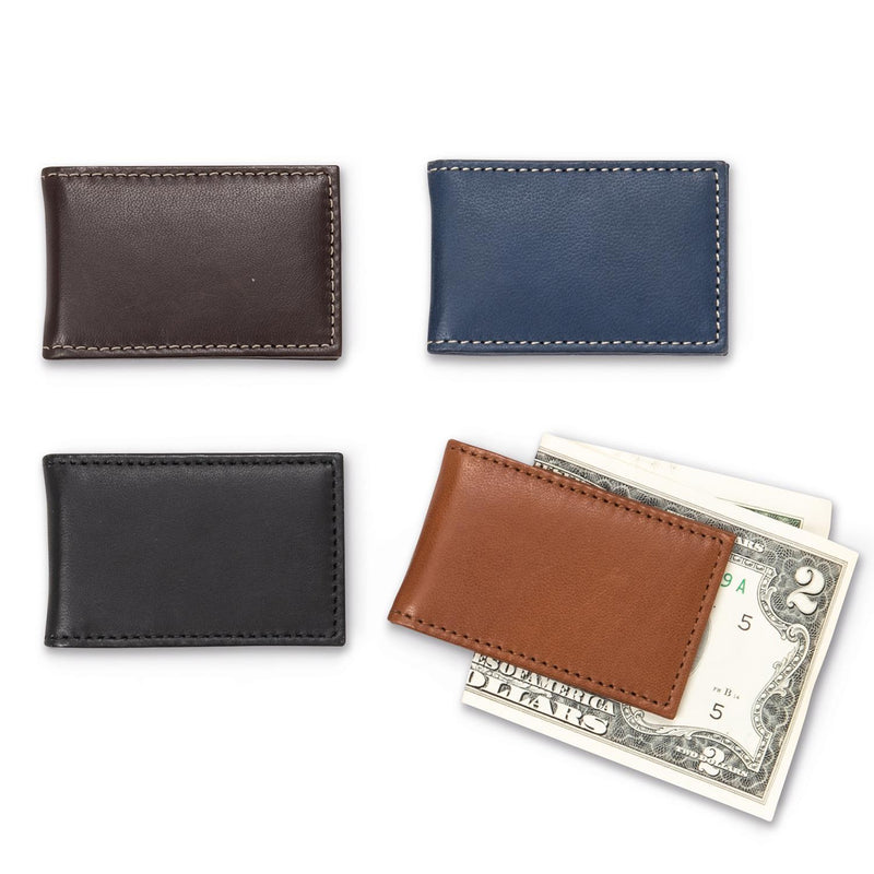 Leather Money Clip in Various Colors