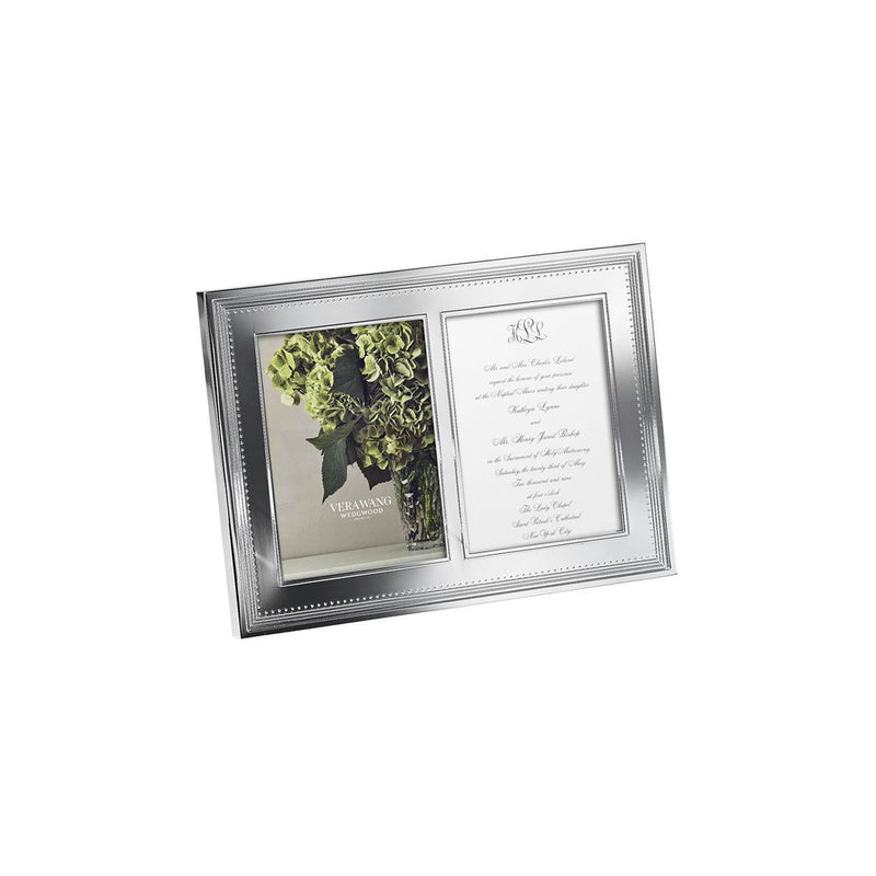 Grosgrain 5x7 Double Frame by Vera Wang