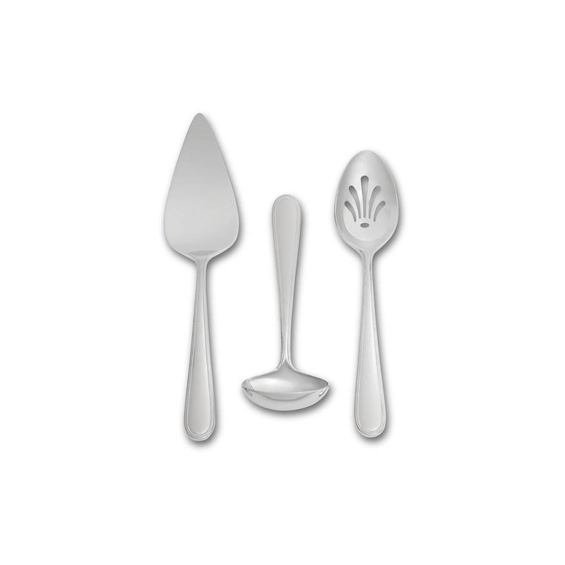 Vera Infinity Stainless Steel 3-Piece Serving Set by Vera Wang