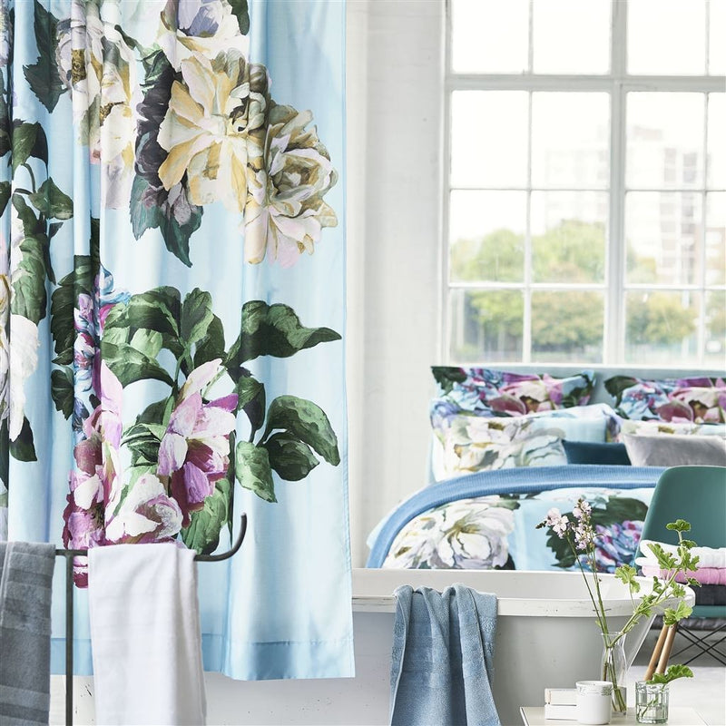 Delft Flower Sky Shower Curtain Design By Designers Guild