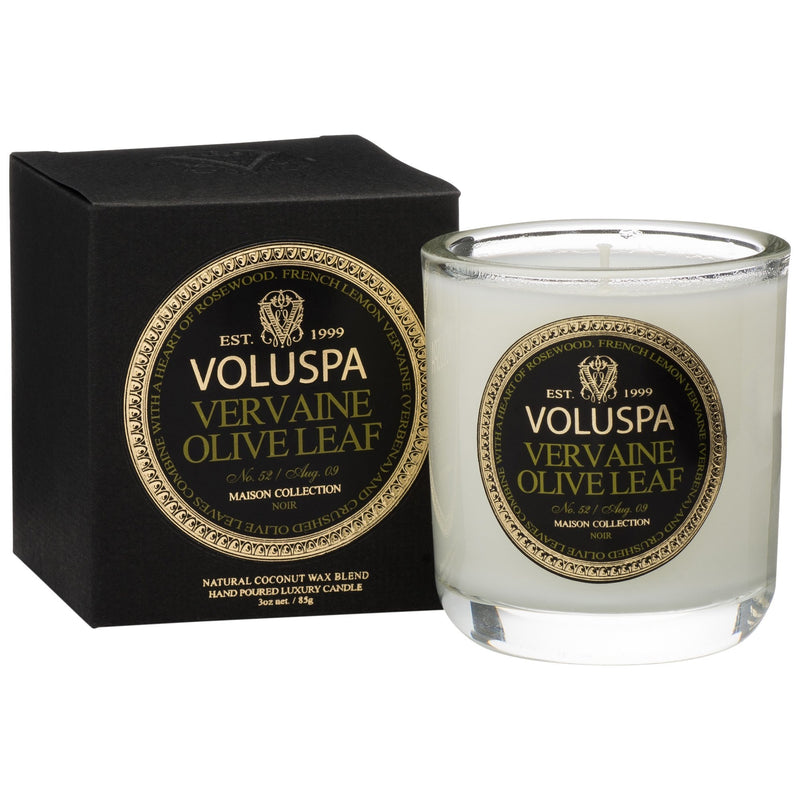 Classic Maison Votive in Vervaine Olive Leaf design by Voluspa
