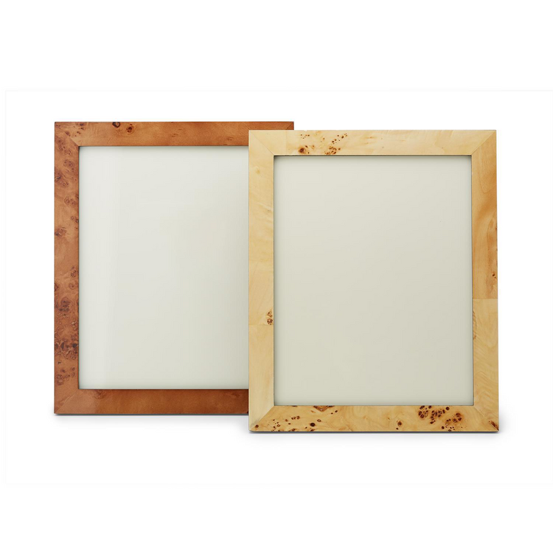 "Burled Wood 8"" x 10"" Photo Frame in Gift Box in Various Colors"